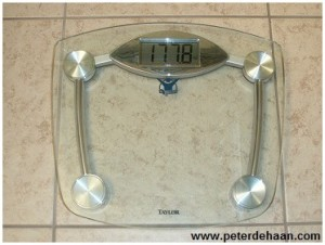 New bathroom scale