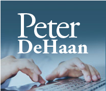 Author Peter DeHaan blogs about postmodern biblical spirituality