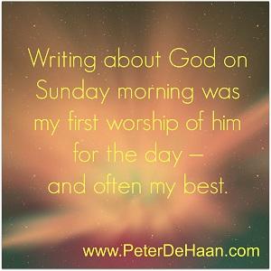 Why Do I Write on Sunday?