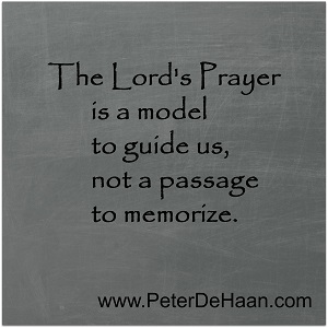 Should We Recite the Lord's Prayer?